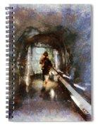 Inside An Ice Tunnel In Switzerland Spiral Notebook