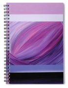Inside Purple Spiral Notebook