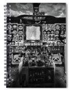 Inside The Cockpit Black And White Spiral Notebook