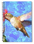 Inside The Flower - Impressionism Finish Spiral Notebook