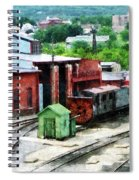 Inside The Train Yard Spiral Notebook