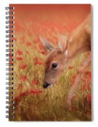 Inspecting The Poppies Spiral Notebook