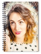 Inspiration Of A Creative Pinup Photographer  Spiral Notebook
