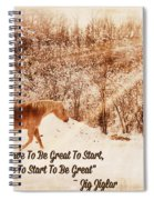 Inspirational Quote Horse Photo Spiral Notebook