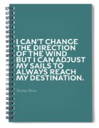 Inspirational Quotes Series 012 Jimmy Dean Spiral Notebook