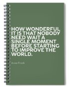 Inspirational Quotes Series 015 Anne Frank Spiral Notebook