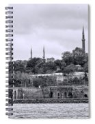 Instanbul In Black And White Spiral Notebook