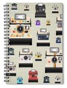 Instant Camera Pattern Spiral Notebook