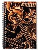 Instrumental Abstract Spiral Notebook