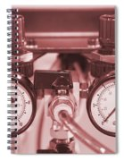 Instruments For Measuring Pressure In Red Hue Spiral Notebook