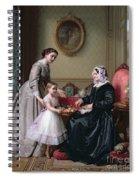 Interior At 'the Chestnuts' Wimbledon Grandmother's Birthday Spiral Notebook