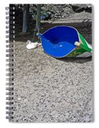Interior Blue Spiral Notebook