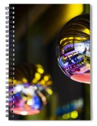 Interior Design Detail In Modern Trendy Bar At Night Spiral Notebook