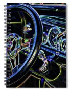 Interior Of A Classic Vintage Car Spiral Notebook