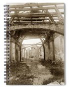 Interior Of Carmel Mission Looking Towards The Altar. Circa 1880 Spiral Notebook
