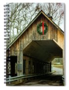 Interior Of Covered Bridge Spiral Notebook