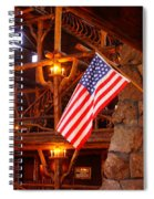 Interior Of Old Faithful Inn Spiral Notebook
