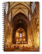 Interior Of Strasbourg Cathedral Spiral Notebook