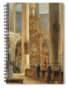 Interior Of The Franciscan Church Salzburg Spiral Notebook