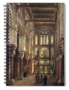 Interior Of The Mosque Of El Mooristan In Cairo Spiral Notebook