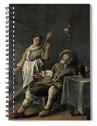 Interior Scene In Front Of A Fireplace Spiral Notebook