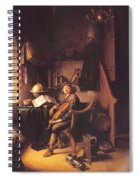 Interior With A Young Violinist 1637 Spiral Notebook