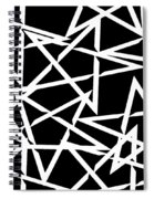 Interlocking White Star Polygon Shape Design Spiral Notebook