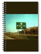 Interstate 70 West At Route H Exit, 1976 Spiral Notebook