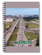 Interstate 74 West At Exit 95b, Route 116 East Exit, 1975  Spiral Notebook