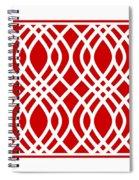 Intertwine Latticework With Border In Red Spiral Notebook