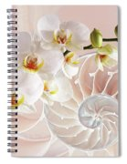 Intimate Fusion In Soft Pink Spiral Notebook