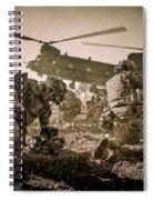 Into Battle-sepia Spiral Notebook