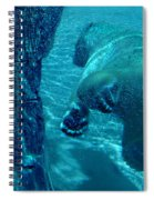Into The Wild Blue Spiral Notebook