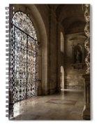 Intricate Ironwork - Lacy Wrought Iron Gates Spiral Notebook