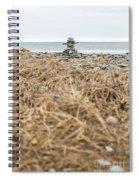 Inukshuk At Lawrencetown Beach, Nova Scotia Spiral Notebook