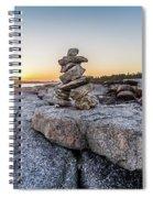 Inukshuk In Terence Bay, Nova Scotia Spiral Notebook