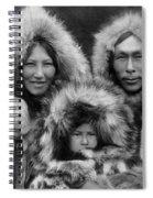 Inupiat Family Portrait - Alaska 1929 Spiral Notebook