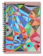 Invasion Of The Peonies Spiral Notebook