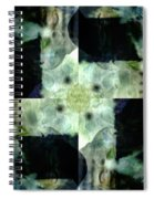Invented Places, Mandala Series, Path With Flowers Spiral Notebook