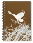 Inverted Crow Spiral Notebook