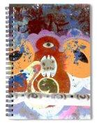 Inverted Graffiti Spiral Notebook