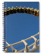 Inverted Roller Coaster Spiral Notebook