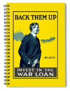 Invest In The War Loan - Ww1 Spiral Notebook