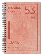 Iodine Element Symbol Periodic Table Series 053 Spiral Notebook