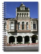 Watsonville I. O. O. F. Building Built In 1893  Damaged By The Loma Prieta Earthquake 1989 Spiral Notebook