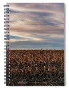 Iowa Corn Fields In The Fall Spiral Notebook