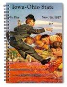 Iowa Vs Ohio State 1957 Program Spiral Notebook