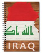 Iraq Rustic Map On Wood Spiral Notebook