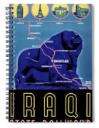 Iraq Vintage Travel Poster Restored Spiral Notebook