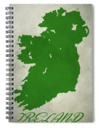 Ireland Grunge Map Spiral Notebook